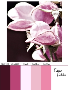 Palette 2 Faded Pink Roses